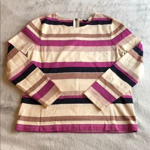J.Crew Striped Color Block Top
